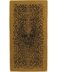 Alexander McQueen - Leopard Big Skull Towel - Lyst
