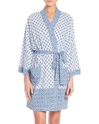 Oscar de la Renta | Twin-print Pima Cotton Wrap Robe | Lyst