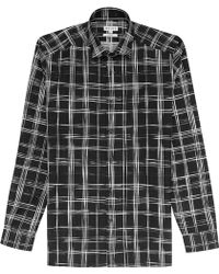 Reiss Caviar Check Shirt black - Lyst