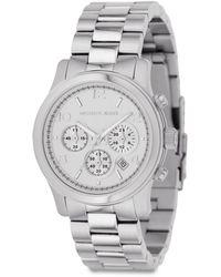Michael Kors Runway Stainless Steel Chronograph Bracelet Watch - Lyst