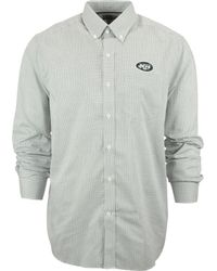 Cutter & Buck Men'S New York Jets Tattersall Dress Shirt - Lyst
