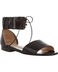 Manolo Blahnik Ankle-cuff Kevo Sandals - Lyst