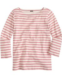 J.Crew Striped Boatneck Tee - Lyst