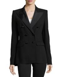 ESCADA Double-Breasted Long Lined Jacket - Lyst