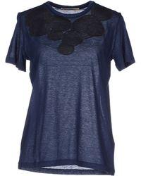 Christopher Kane T-Shirt blue - Lyst