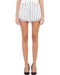 Thakoon Addition White Eyelet Shorts - Lyst