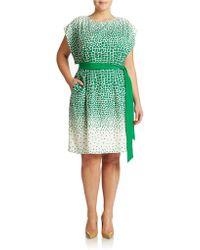 Eliza J Plus Ombre Print Kimono Dress - Lyst