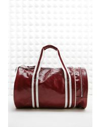 Fred Perry - Classic Barrel Bag In Red - Lyst