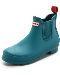 Hunter Original Chelsea Boots  Bright Peacock - Lyst