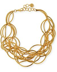 Nest - Gold-Plated Twisted Collar Necklace - Lyst