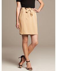 Banana Republic Heritage Tie Front Mini Skirt - Lyst