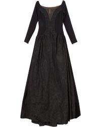 Alessandra Rich Taffeta Skirt Gown - Lyst