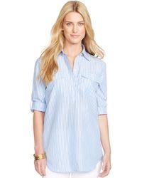 Ralph Lauren Bengal-Striped Linen Shirt - Lyst