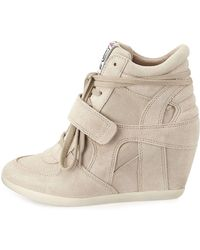 Ash - Bowie Suede Wedge Sneakers - Lyst