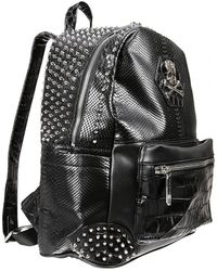 Philipp Plein - Small Serious Black Studded Men's Backpack - Lyst