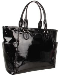 Cole Haan Linley Patent Tote with Top Zip - Lyst