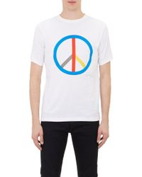 Saturdays Surf Nyc White Peace T-shirt - Lyst