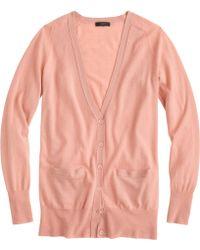 J.Crew Classic Merino Wool Long Cardigan Sweater - Lyst