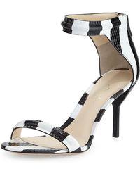 3.1 Phillip Lim Martini Striped Mid-heel Sandal - Lyst