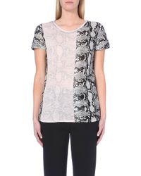 Proenza Schouler Snake-Print Cotton-Jersey T-Shirt - For Women - Lyst