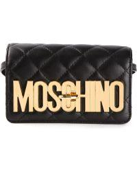 Moschino Quilted Logo Pochette - Lyst