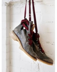 Free People Jenning Lace Up Boot - Lyst