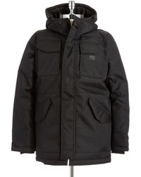 G-star Raw Zip Up Hooded Parka - Lyst