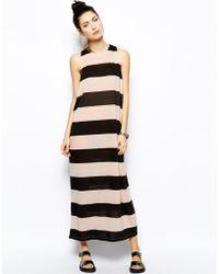 Cheap Monday Drop Armhole Stripe Tank Dress - Lyst