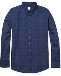 Calvin Klein Jacquard Plaid Texture Ultra-slim Fit Shirt - Lyst