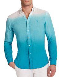 Polo Ralph Lauren Dip-Dyed Linen Sportshirt - Lyst