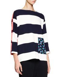 Stella McCartney Colorblock Wide-Striped Sweater - Lyst