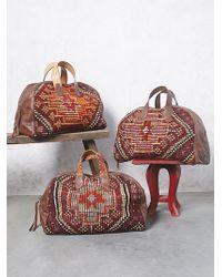 Free People Honeywood Leather Weekender Bag - Brown