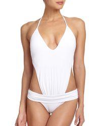 ViX One-Piece Illusion Swimsuit - Lyst