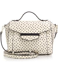 Kate Spade Kennedy Street Snake-Embossed Leather Satchel white - Lyst