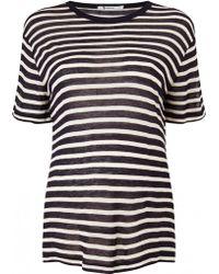 T By Alexander Wang | Stripe Short-sleeved T-shirt | Lyst