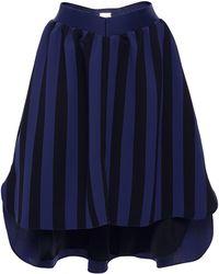 Alexis Mabille | Striped Asymmetrical Skirt | Lyst