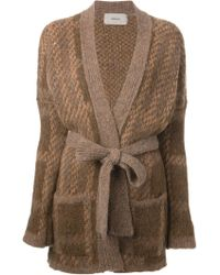 Humanoid Knit Belted Cardigan - Lyst