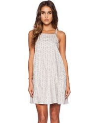Free People Everlong Trapeze Mini Dress gray - Lyst