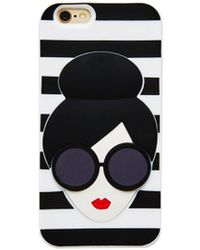 Alice + Olivia Stacey Face Iphone Case - Lyst