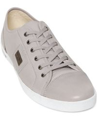 Dolce & Gabbana 'Uk' Leather Sneakers - Lyst
