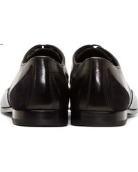 Alexander McQueen Black Accent Panel Derbys - Lyst