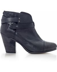 Rag & Bone Harrow Leather Ankle Boots - Lyst