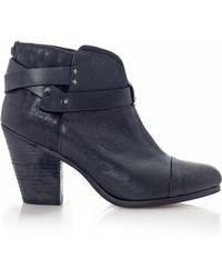 Rag & Bone Harrow Leather Ankle Boots blue - Lyst