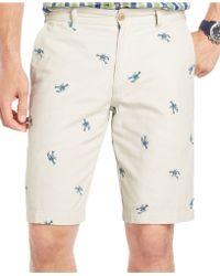 Izod - Crawfish Schiffli Shorts - Lyst