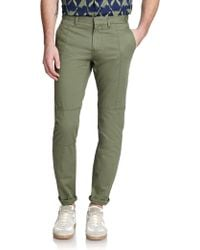 Marc By Marc Jacobs Washed Military Cotton Pants - Lyst