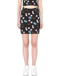 Illustrated People - Techno Stretch-cotton Mini Skirt - Lyst