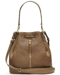 Elizabeth And James Cynnie Large Grained-Leather Bucket Bag - Lyst