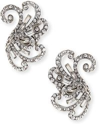 Jose & Maria Barrera | Swirled Crystal Clip-on Earrings | Lyst