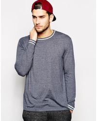 Asos Skater Long Sleeve T-shirt with Piping - Lyst