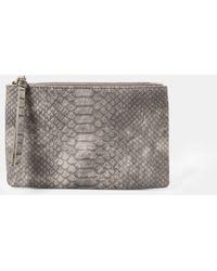 Violeta by Mango - Snake-Effect Cosmetic Bag - Lyst
